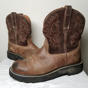 Ariat Fatbaby Embroidered Western Cowboy Boot 7.5B